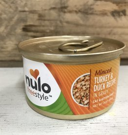 Nulo Nulo FreeStyle 3oz GF Cat Minced Turkey & Duck in Gravy can
