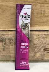 Nulo Nulo FreeStyle 5oz Grain Free Cat Beef & Sardine Puree Sachet treat