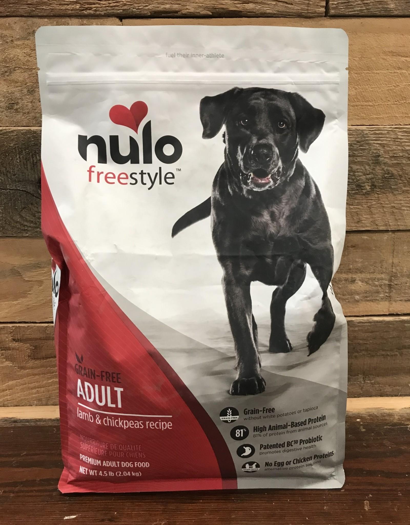 Nulo FreeStyle 4.5# Grain Free Adult Lamb & Chickpeas