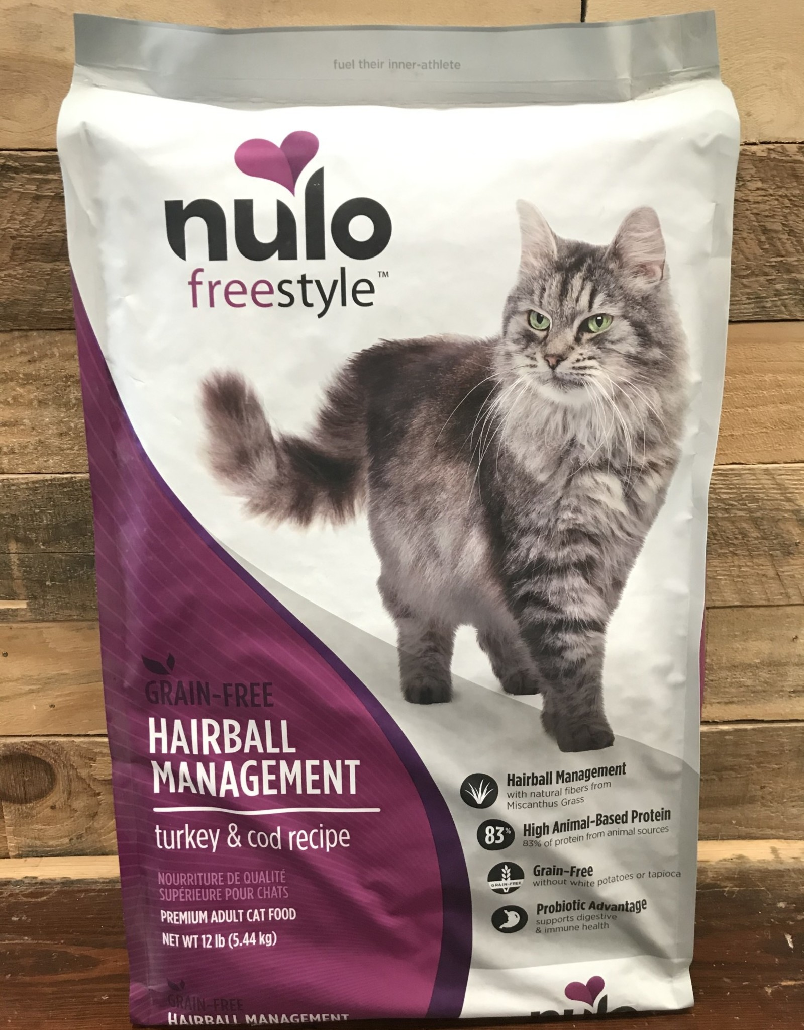Nulo Nulo FreeStyle 12# Grain Free Hairball Management Turkey & Cod cat