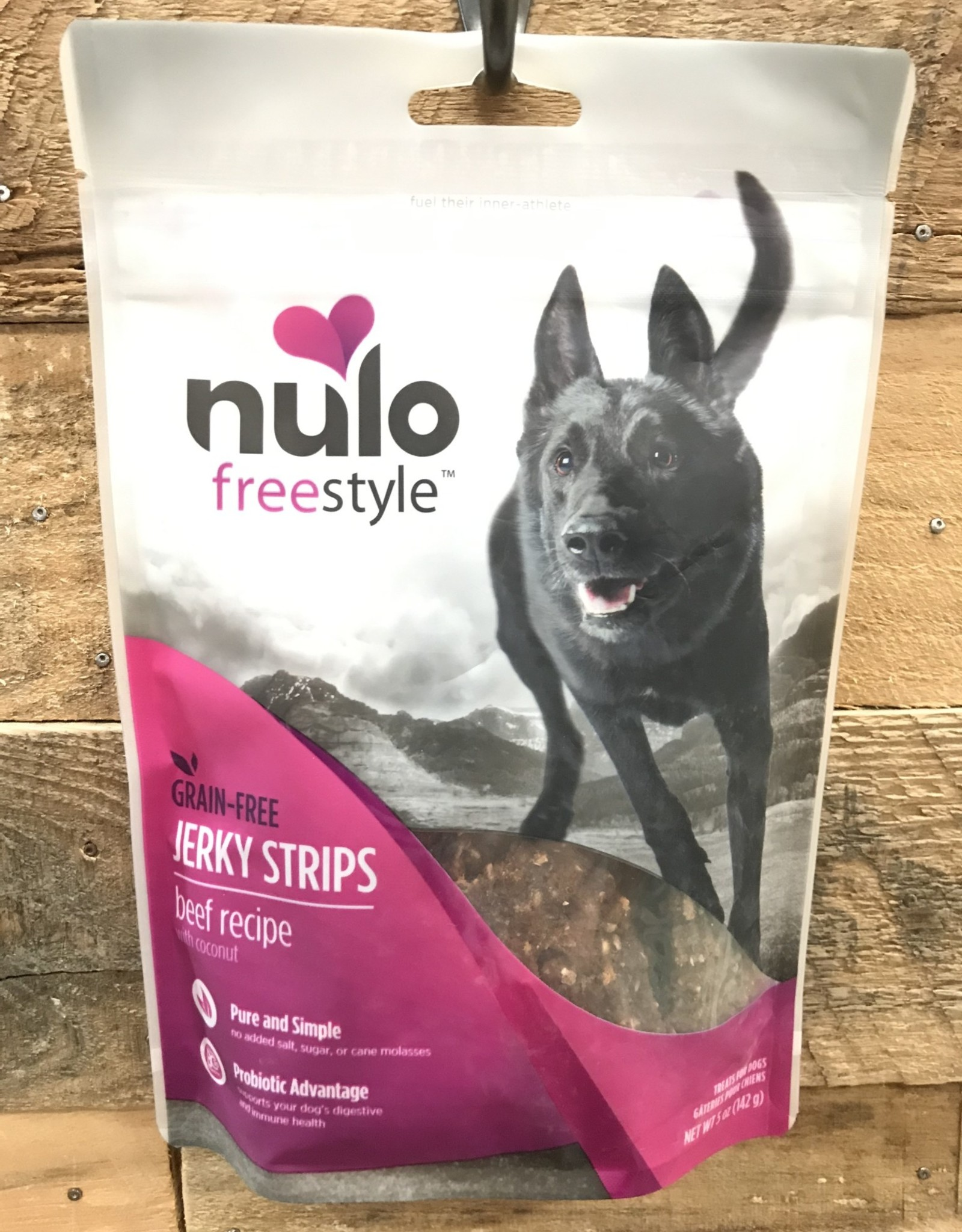Nulo Nulo FreeStyle 5oz Grain Free Dog Jerky Treat Beef & Coconut