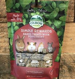 OXBOW ANIMAL HEALTH Oxbow SIMPLE REWARDS BAKED TREATS - PEPPERMINT