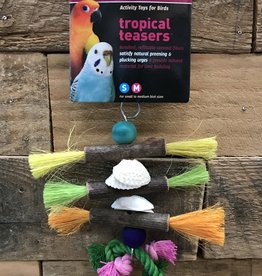Prevue troPICAL TEASERS SHELLS AND STICKS BIRD TOY