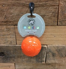 "Outward Hound - Planet dog Planet dog diamond plate ball orange 3"" Made in USA"