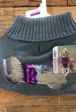 Fashion Pet Reversible Sequins Sweater Gray Small