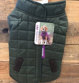 Fashion Pet Reversible Ski Jacket Olive Small