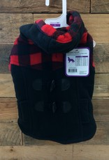 Fashion Pet Toggle Plaid Trim Coat Small