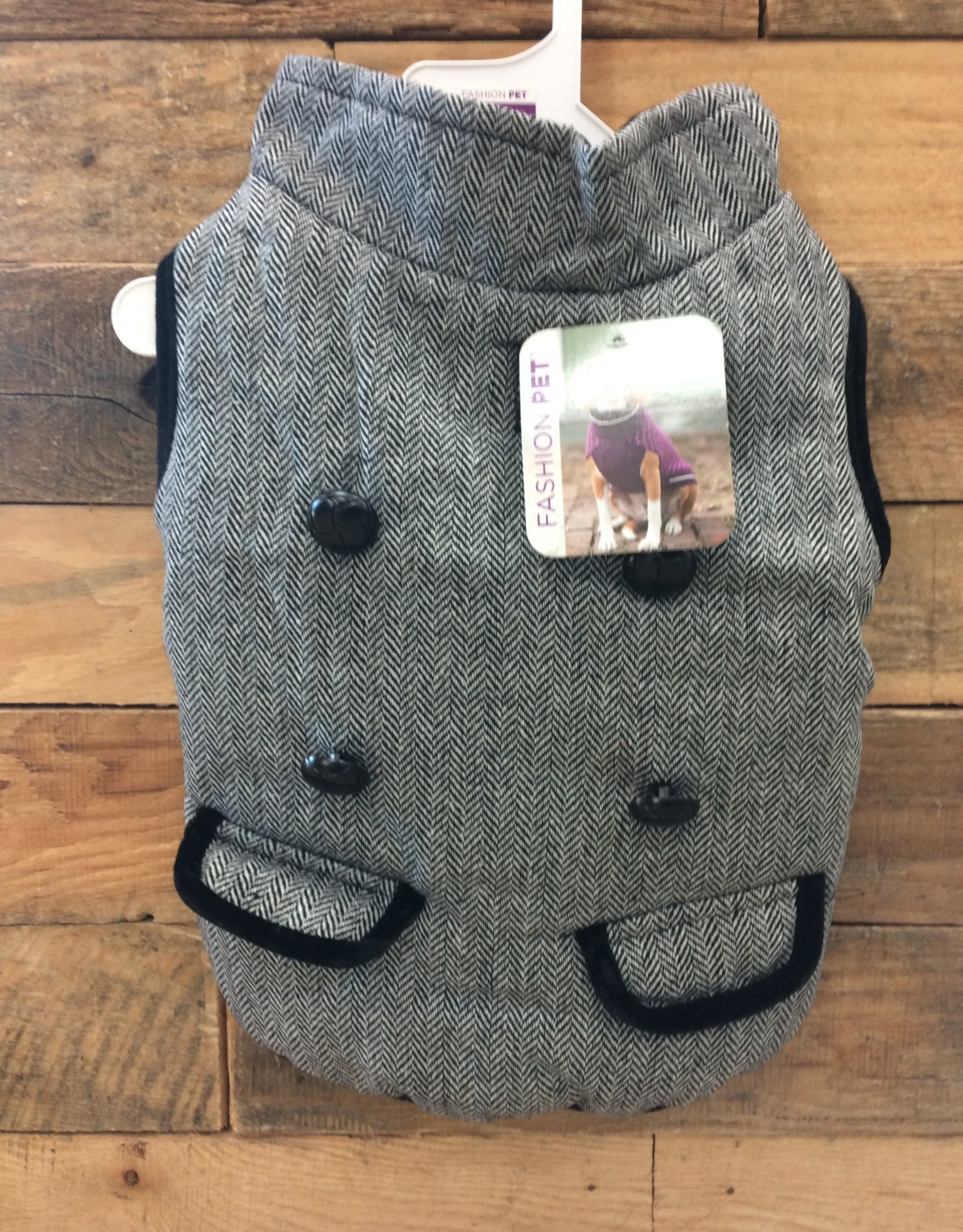 Fashion Pet Tweed Coat Gray Small