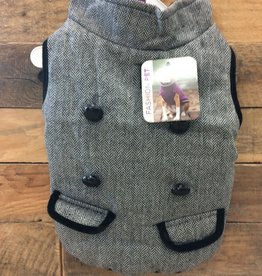 Fashion Pet Tweed Coat Gray Small