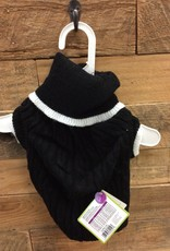Fashion pet classic cable sweater black large