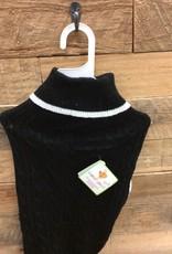 Fashion Pet classic cable sweater black X-large