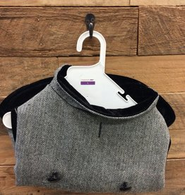 Fashion Pet Tweed Coat Gray Large