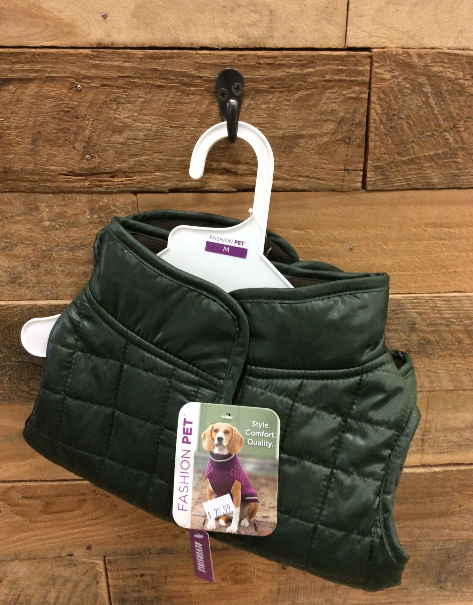 Fashion Pet Reversible Ski Jacket Olive Medium