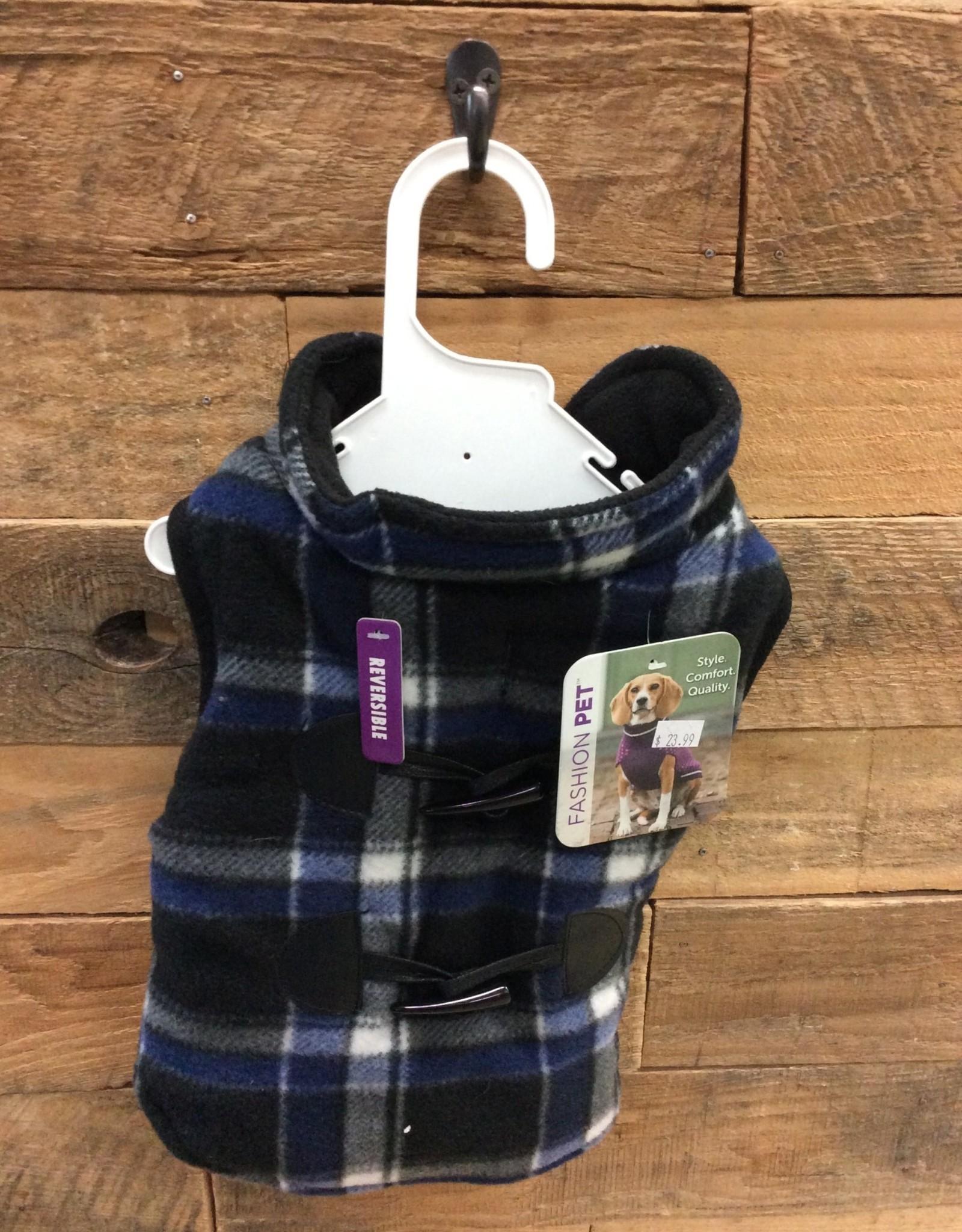 Fashion Pet Plaid Reversible Coat Small