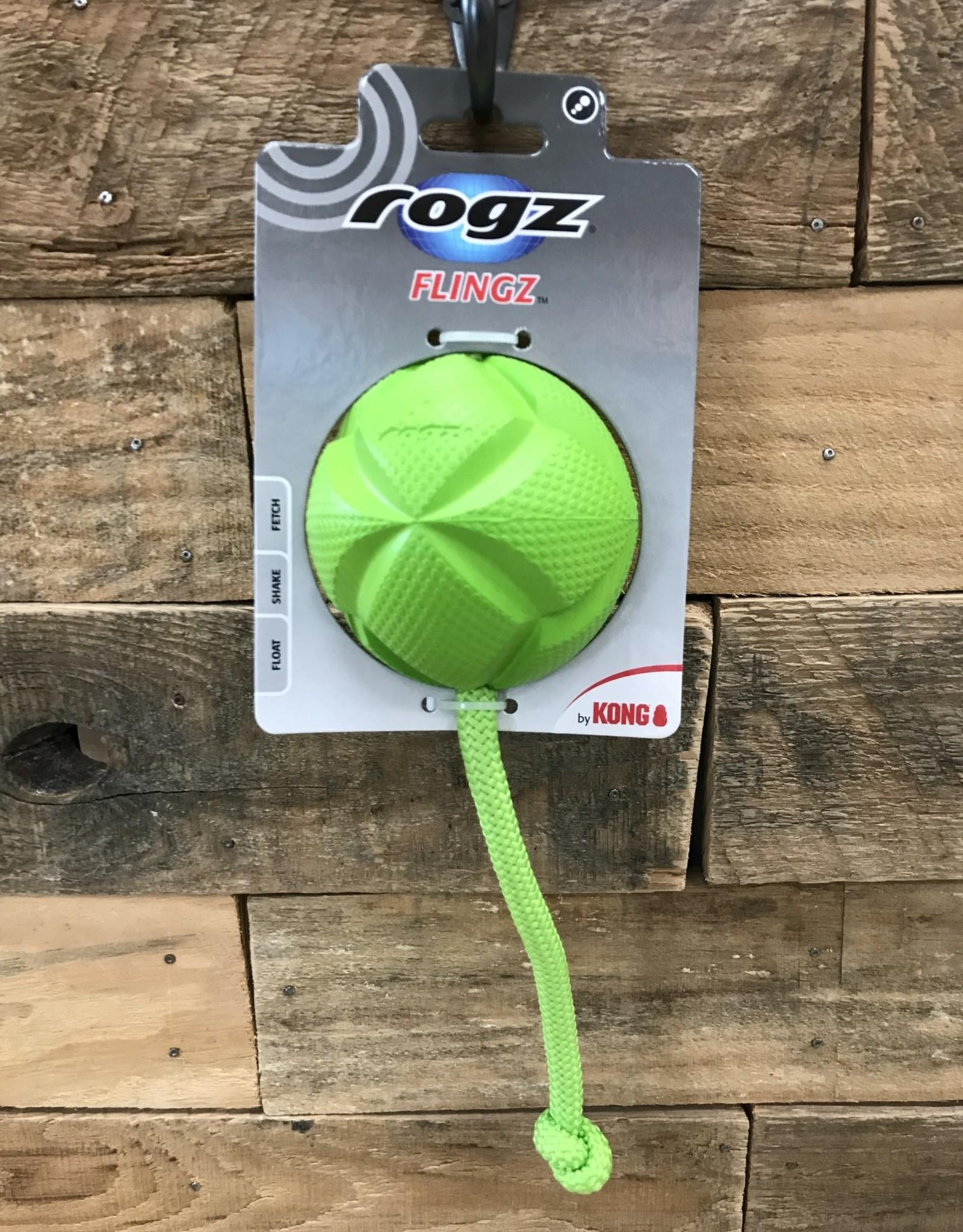 Rogz Flingz Ball w/Rope Large