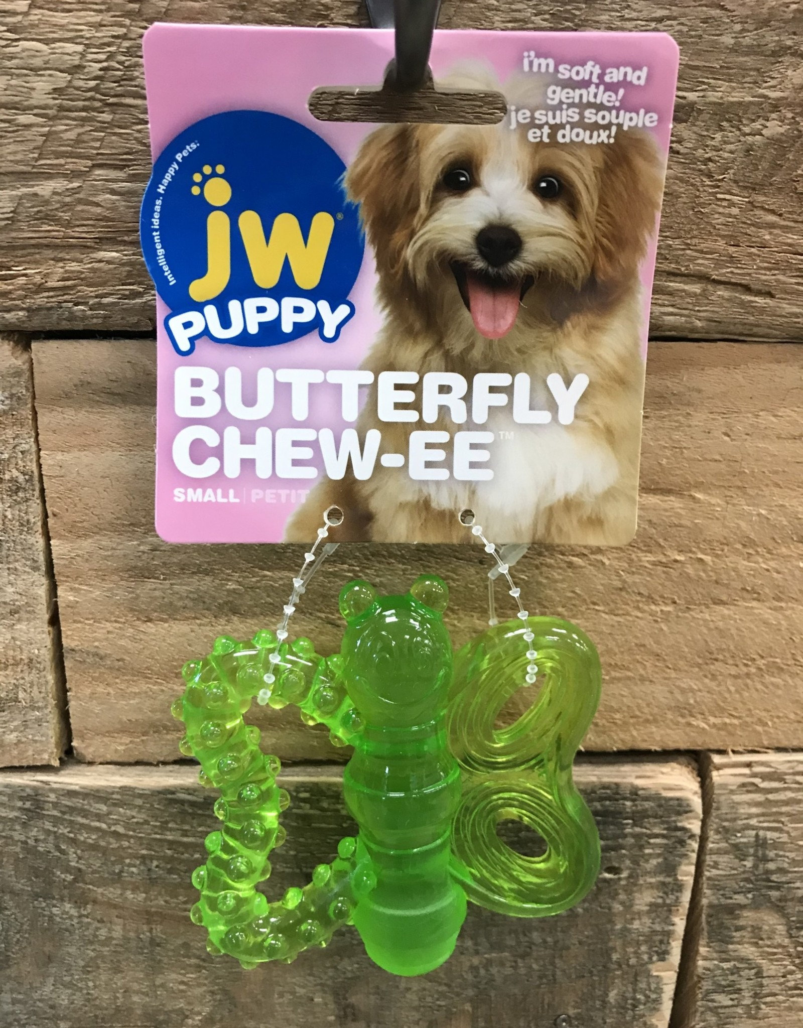 JW JW Puppy Butterfly Squeak-ee Small Assorted