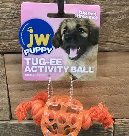 JW JW Puppy Tug-ee Activity Ball Small Assorted