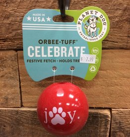 Outward Hound - Planet dog Xms Planet Dog Orbee-Tuff holiday joy ball 2.5 Made in USA