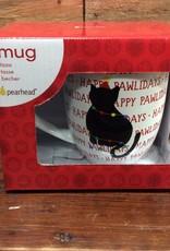 Happy Pawlidays Cat Mug