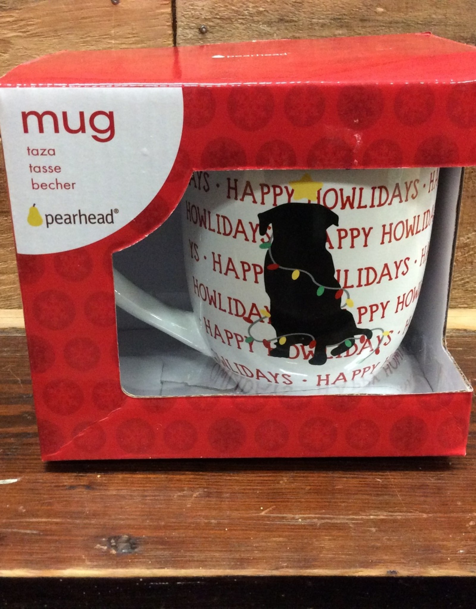 Happy Pawlidays Dog Mug