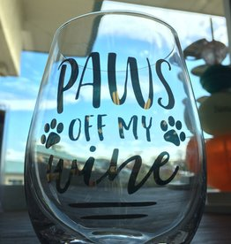 Pearhead Pet Lover's Cat Wine Glass ( Paws off my Wine)