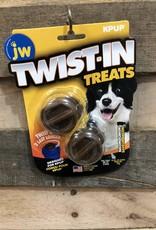 JW DOG TOY TWIST-IN TREATS BACON 2 PK