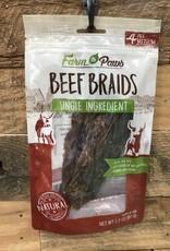 FARM TO PAWS Farm To Paws Beef Braids 4PK