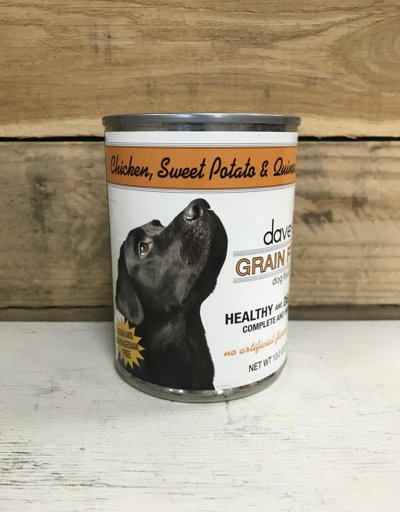 Daves Pet Food Daves GF Healthy & Delicious Chicken,  Sweet Pot, & Quinoa in gravy dog 13.2 oz