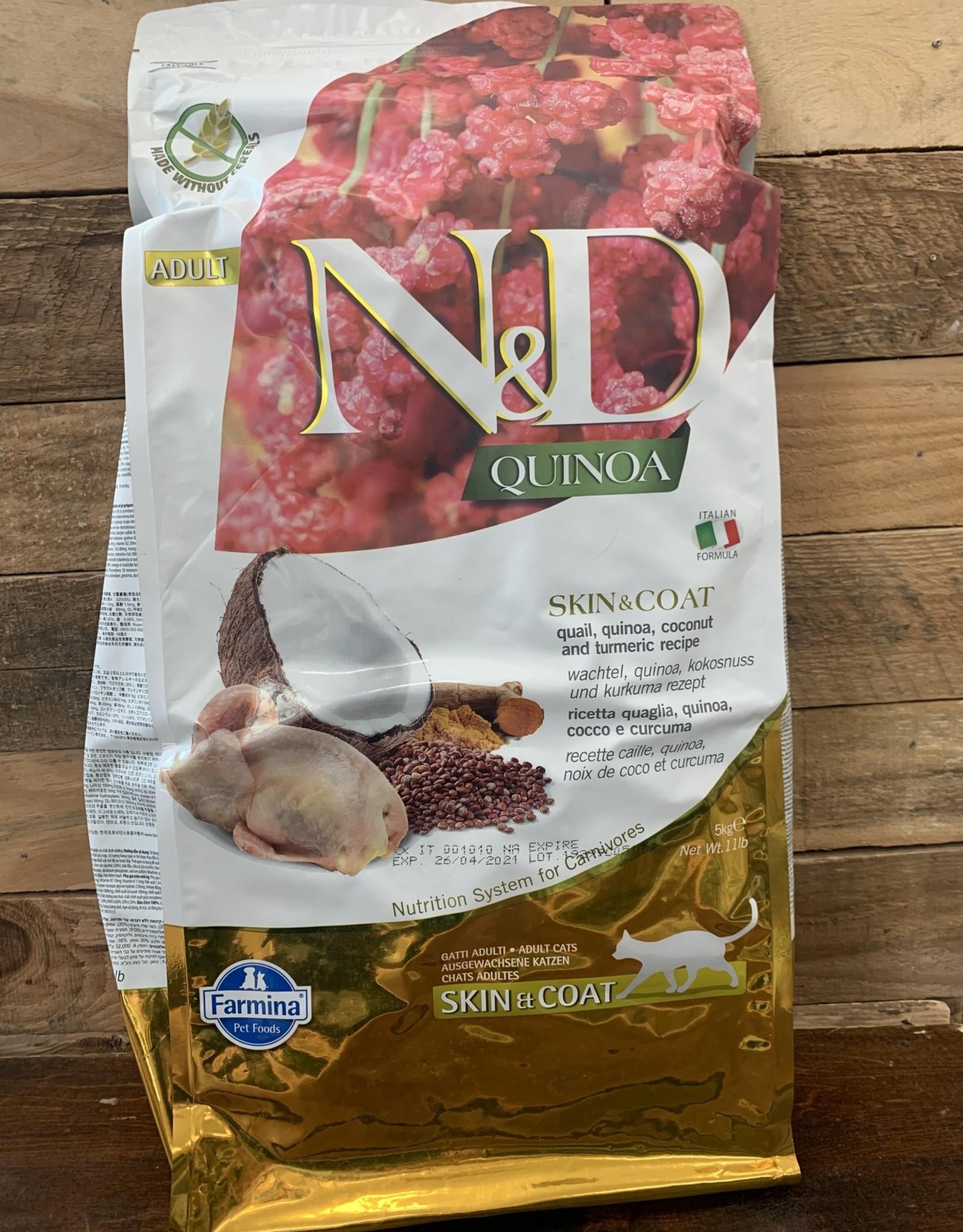 Farmina Farmina N&D Quinoa Skin and Coat Quail cat 11#