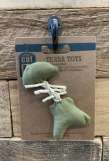 Hagen Catit Eco Terra Natural Linen Toy with Raffia - Green Fish