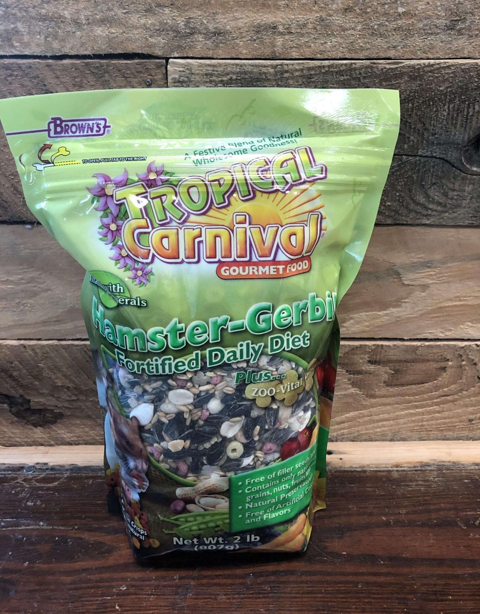 FM Brown 2lb tropical carnival hamster gerbil food