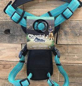 Coastal Pet Products Coastal K9 Explorer Brights Reflective Front Ocean Harnesses