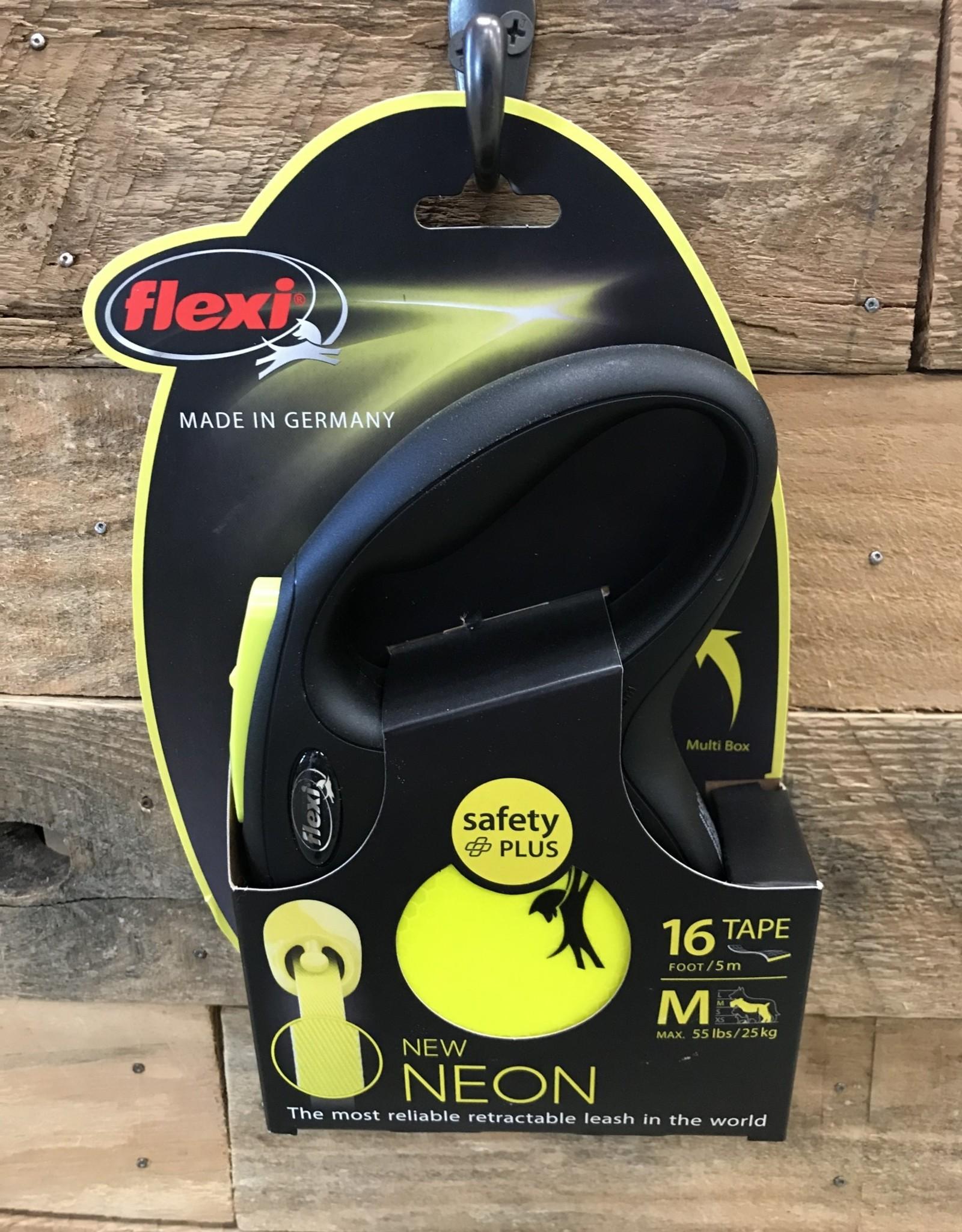 Flexi New Classic Tape Neon Yellow Reflective 16' Medium
