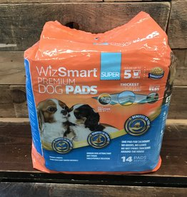 Wizsmart Wizsmart Dog Super Premium puppy Training Pads 14 Pk.