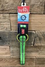 "Wigzi Waterproof Collar 1"" 20-28"" Neon Green"