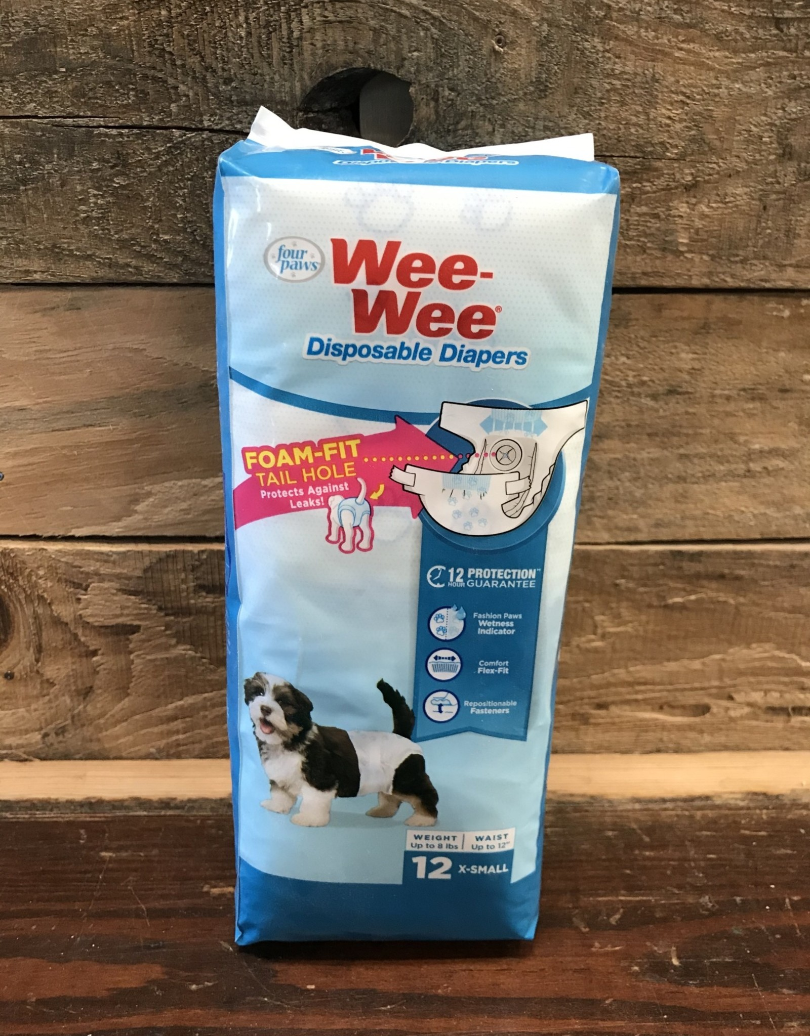 FOUR PAWS 12 PK. XS wee wee disposable dog diapers