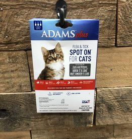 Central Life Sciences- Adams Adams Plus Flea & Tick Spot On Cat LT 5# 3 Month