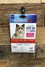 Central Life Sciences- Adams Adams Plus Flea & Tick Spot On Cat GT 5# 3 Month