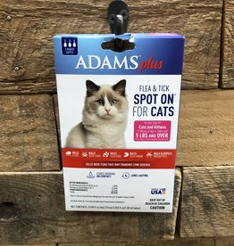 Central Life Sciences- Adams Adams Plus Flea & Tick Spot On Cat GT 5# 3 Month