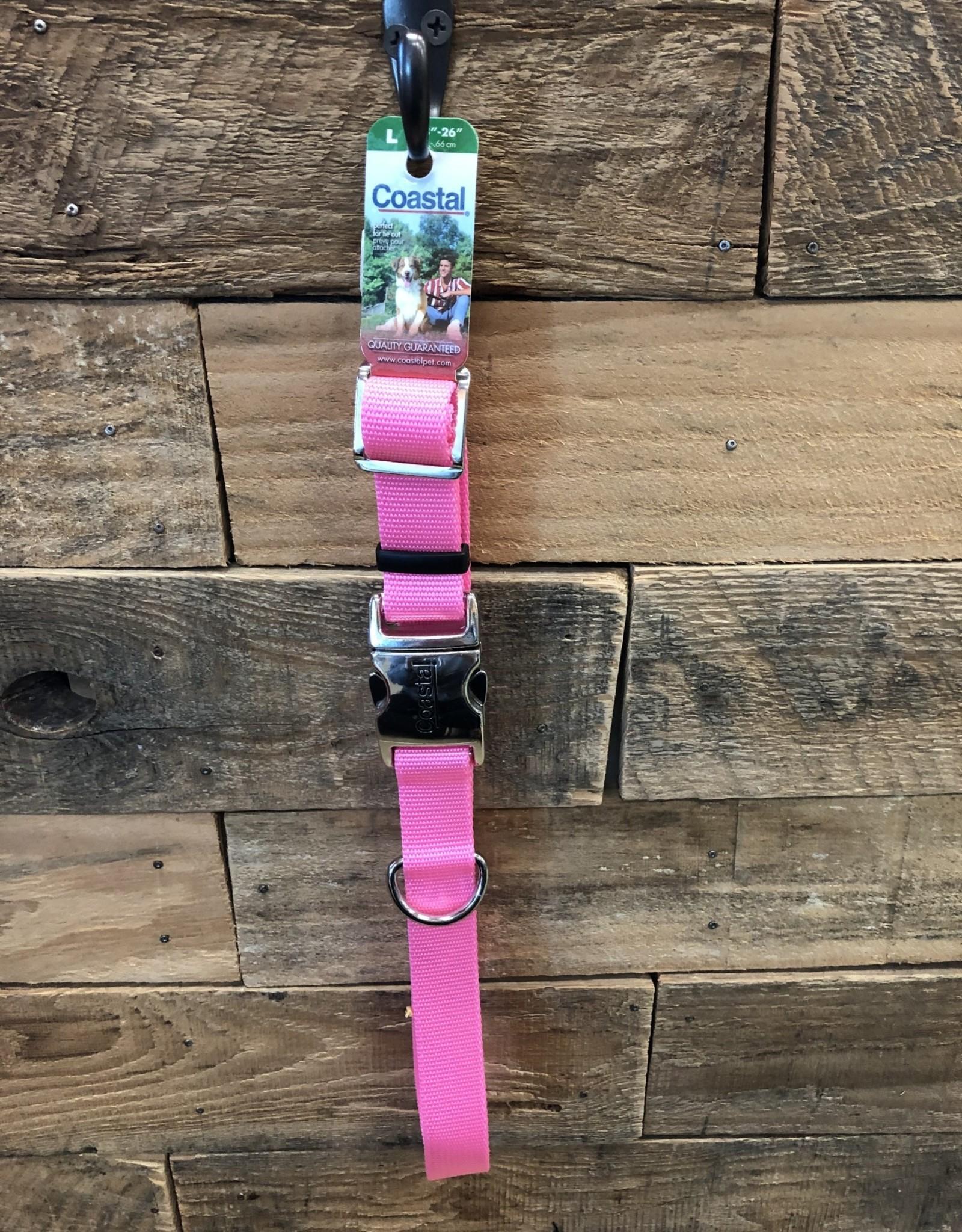 "Coastal Pet Products Coastal Collar w/Buckle - Pink 18-26"""
