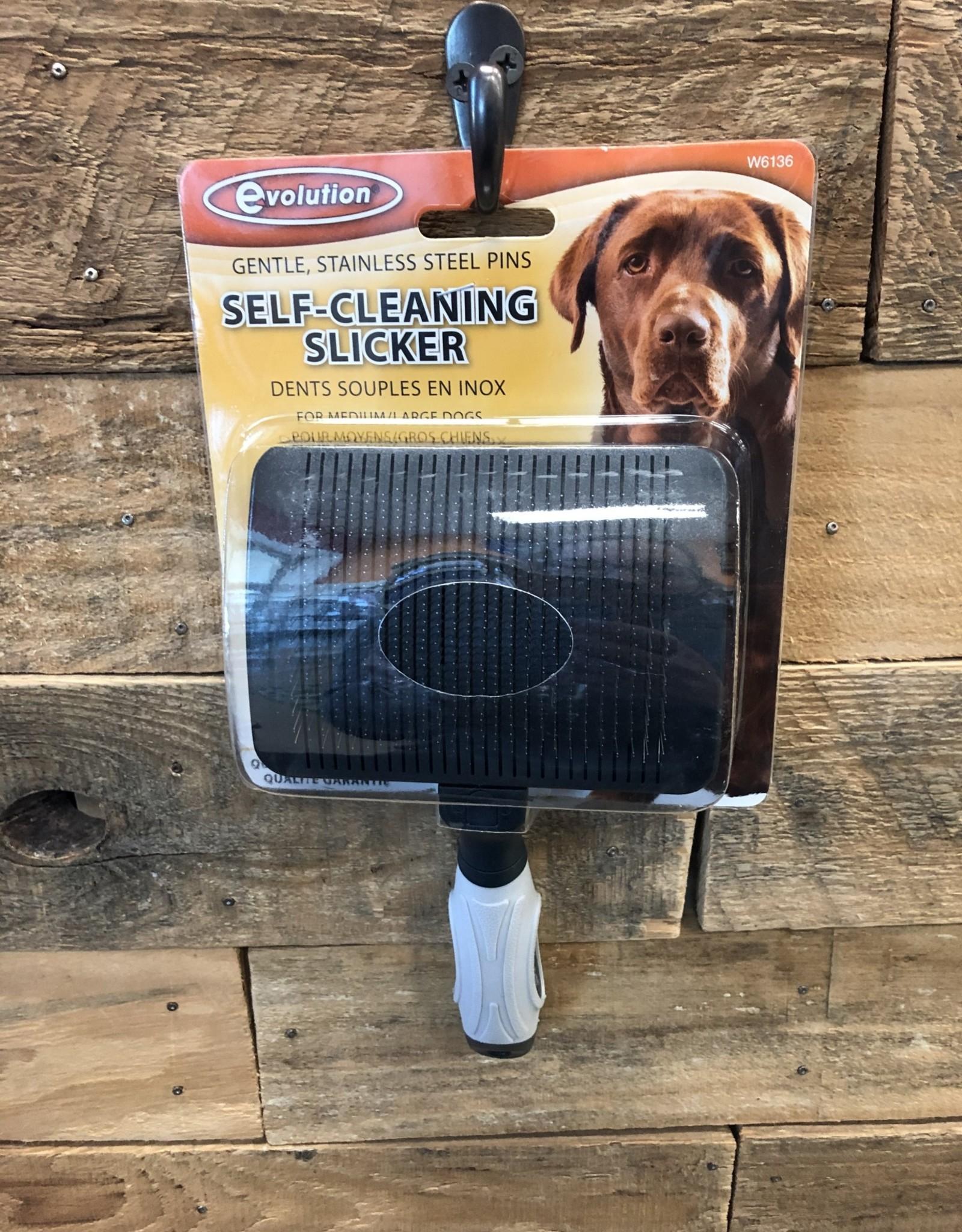 Coastal Pet Products COASTAL MED/LG. EVOLUTION SELF CLEANING SLICKER BRUSH