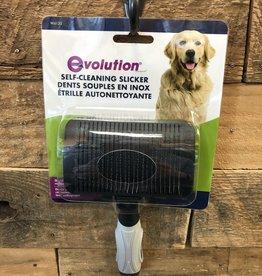 Coastal Pet Products COASTAL Lrg/MED. EVOLUTION SELF CLEANING SLICKER BRUSH