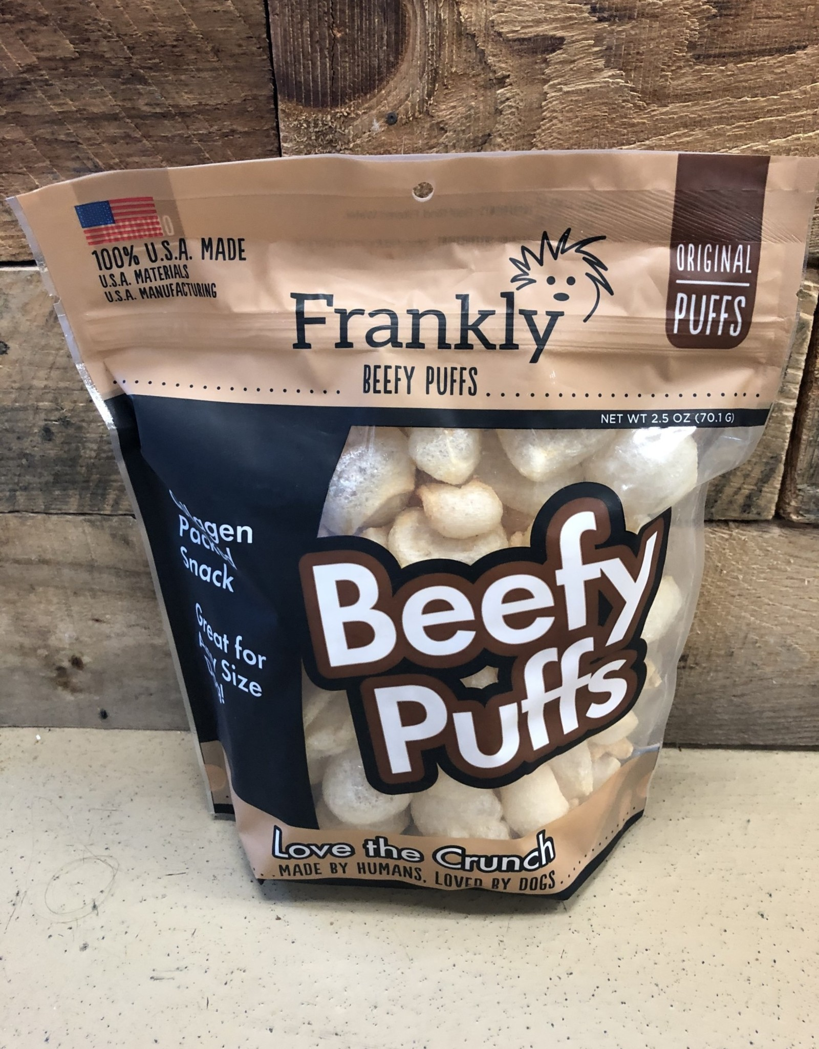 Frankly Frankly Beefy Puffs Original 2.5oz.