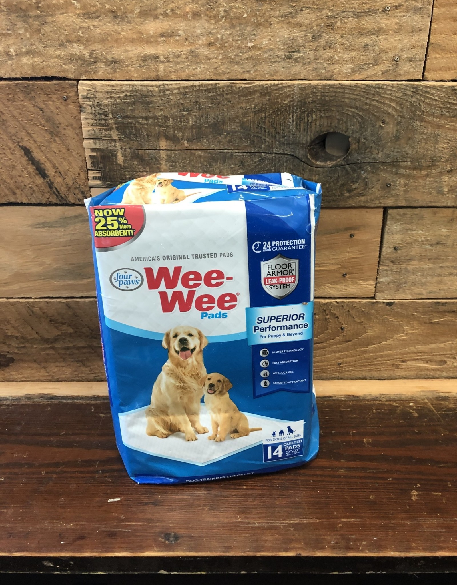 FOUR PAWS WEE-WEE PADS 14PK