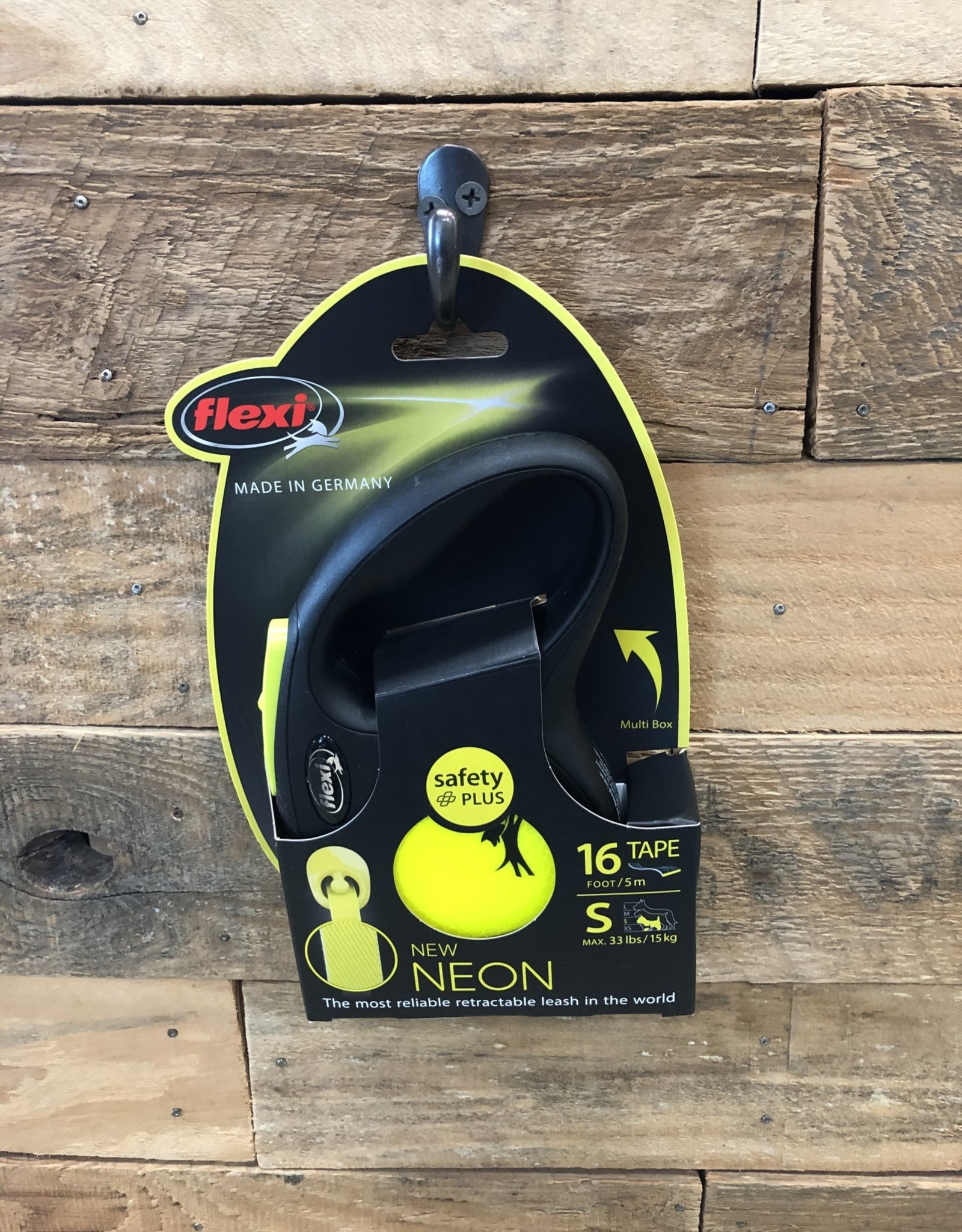 Flexi New Classic Tape Neon Yellow Reflective 16' Small
