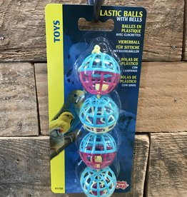 Living World Living World 4 Plastic Bird Balls w/ Bells
