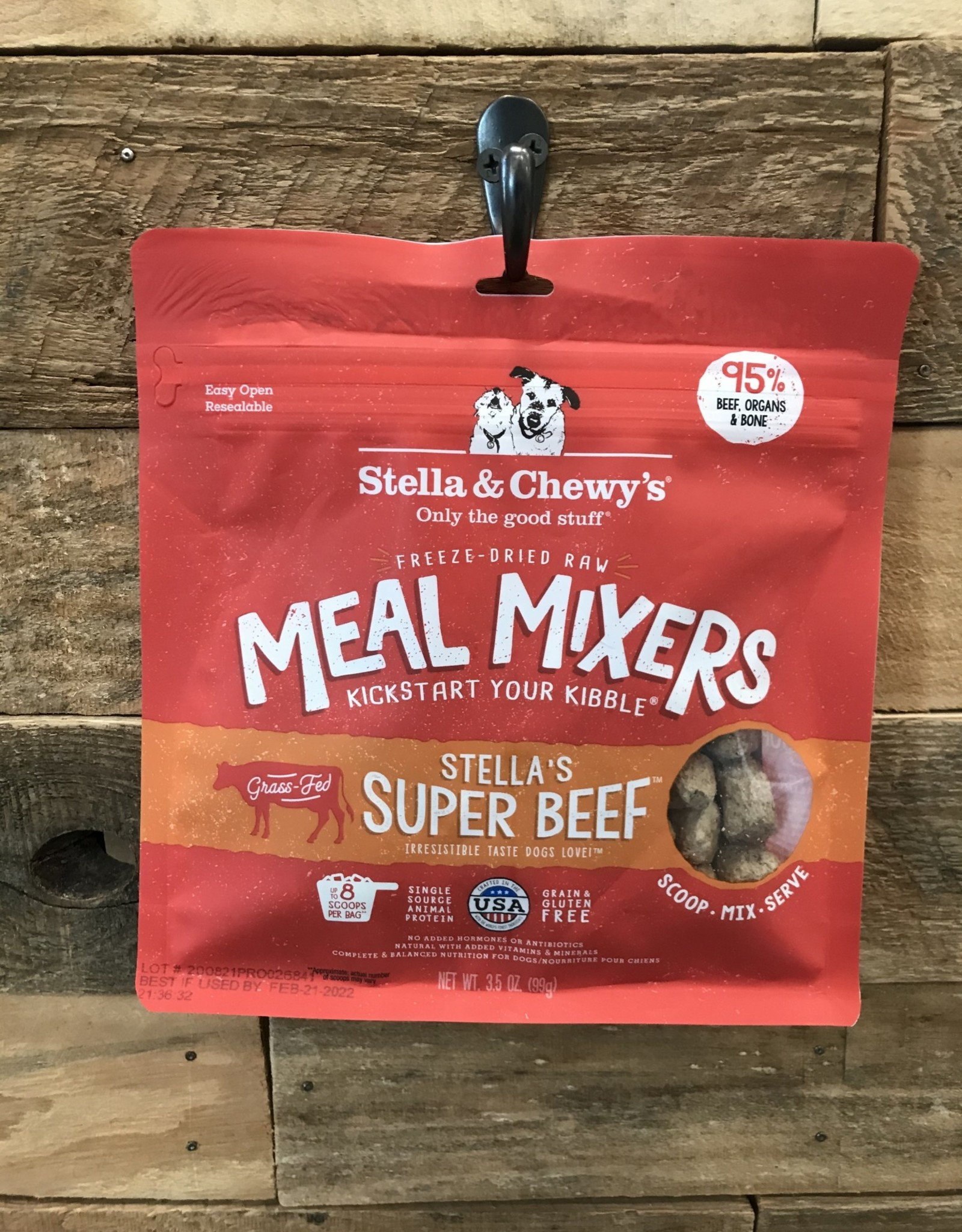 Stella & Chewys FD 3.2 oz SUPER BEEF MEAL MIXERS Dog