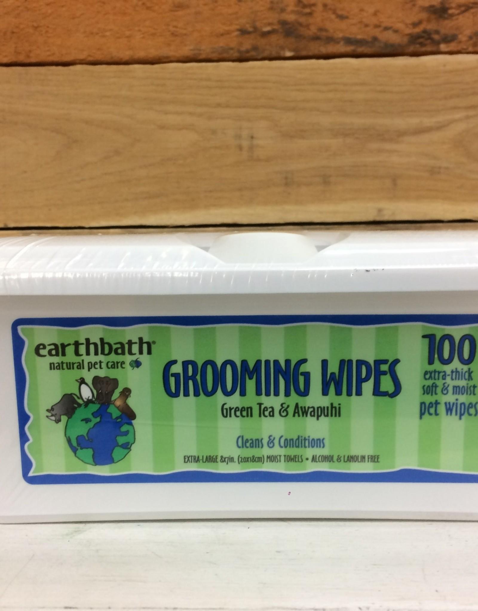 Earthbath grooming wipe green tea 100ct