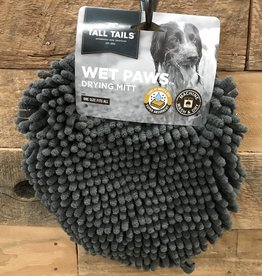Tall Tails Dog Wet Paw Dry Mit Charcoal