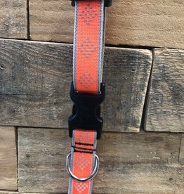 Lupine High Visibility Orange diamond Collar & Leashes dog